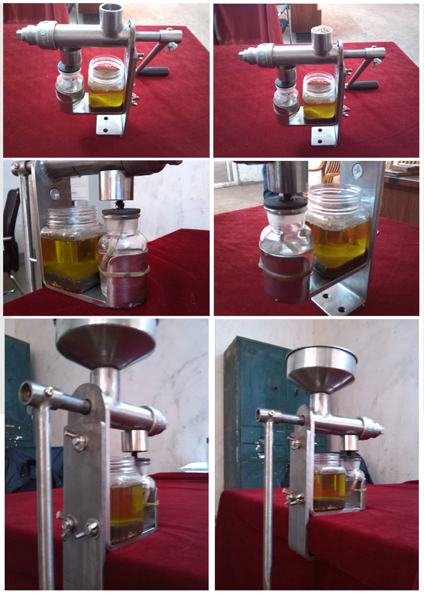 Mini cooking hand manual cold peanut rapeseed castor Camellia seeds oil press presser making mill machine home