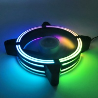 New design cooling fan rgb triple ring fan