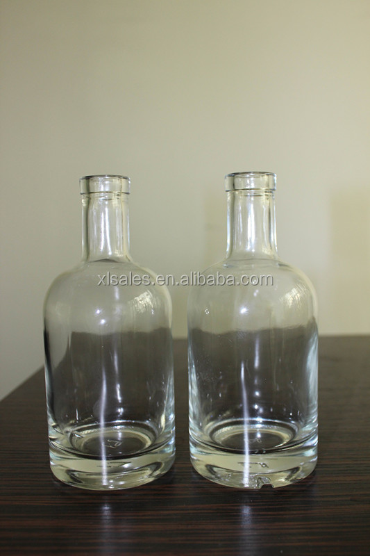 VODKA BOTTLE GLASS CONTAINERS 750ML 375ML SALE