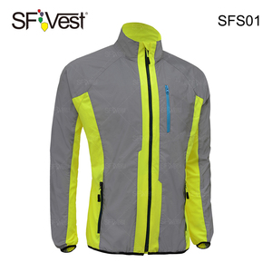 100% Polyester Mesh Lightweight Reflective Fabric Road Outdoor Bike Trek Safety Fluorescent Cycling Clothing Jackets for mens