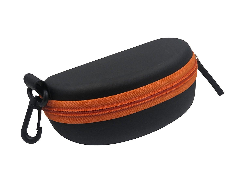 787cf7c04033 Get Quotations · Sports sunglasses case semi hard eyeglass goggle case w zipper  belt clip   cloth