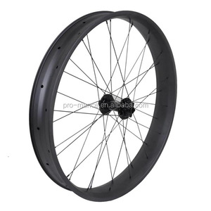 Factory price cheap carbon bicycle wheel set T700 26er hookless width 80mm depth 25mm carbon fat bike rim
