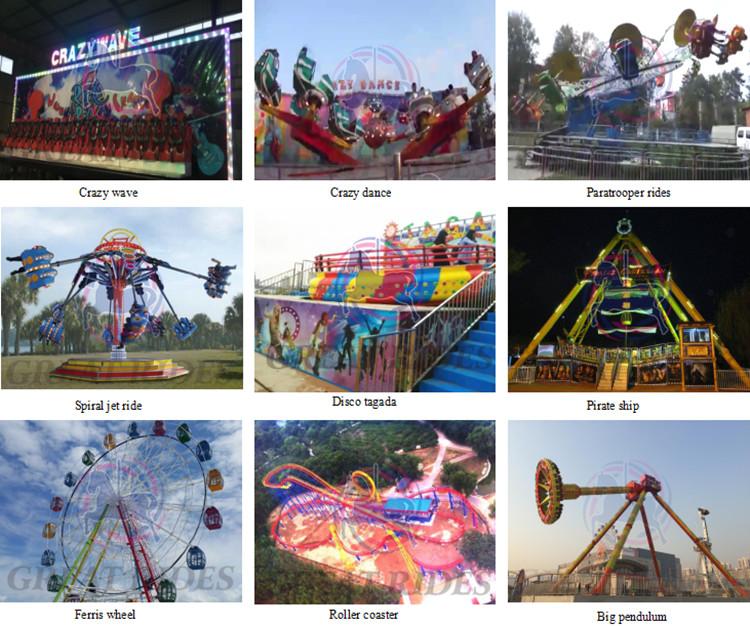 Fun park rides children amusement equipment sliding mini speed plane ride on track