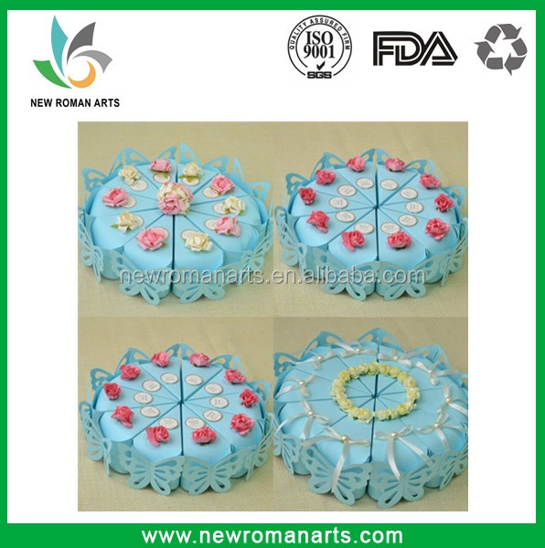 Party Gifts Boxes ,Flower Butterfly Heart Wedding Decoration Cake Boxes