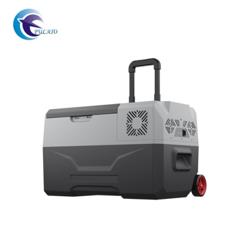 30L Portable Camping Cooler Freezer 12V Car Fridge With Wheels