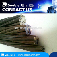 Ungalvanized Wire Rope High Carbon Steel Rope, wire strand 7 wire PC Strand