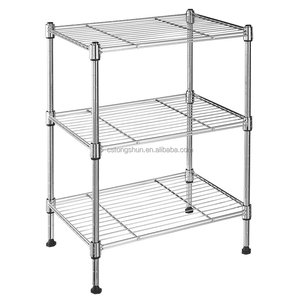 Black wire knock down storage shelves