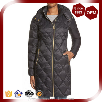 84fe91473 Black Packable Diamond Quilted Padding Long Coat Jacket For Women - Buy  Packable Diamond Down Jacket,Women's Down Coat,Duck Down Jacket Product on  ...