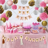 Pink and Gold Baby Shower Decorations Kit it's a girl baby shower Baby Shower Decorations for Girl
