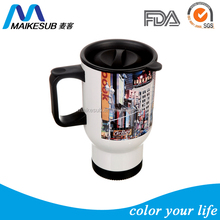 Wholesale Sublimation travel mug for promotion with customized photo