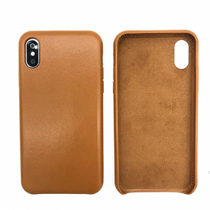 For Apple Luxury Leather Case With Logo Back Cover For iPhone XS MAX 6.5 Inch Soft Microfiber Protective Slim Cover