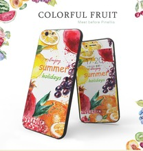TPU mobile phone case 3D embossing with texture fruit shell for Iphone 6