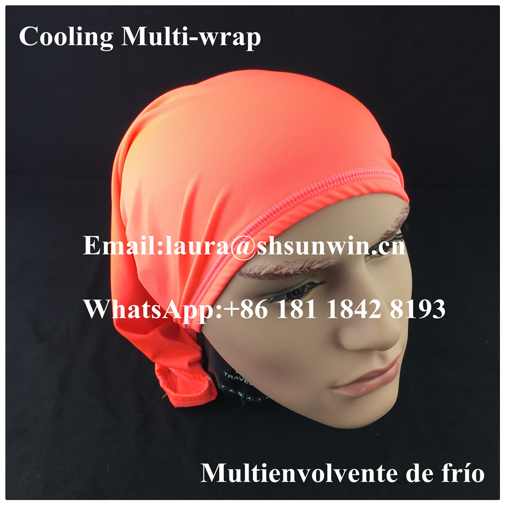 Mission Athleticare Enduracool Multi-Cool Fitness Wrap Sun Debris Multi-Function Magic Cooling Headband/Headwear/Head Wrap/Scarf