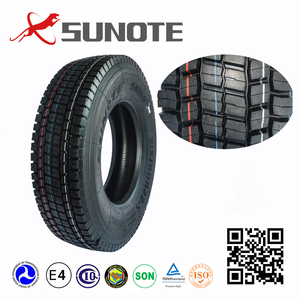 Chinese top quality cheap price 13r22.5 SN169 radial dump tubeless truck tires