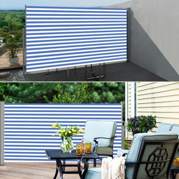 Diy Sunshade Retractable Awning Outdoor Canopy Patio Used Side