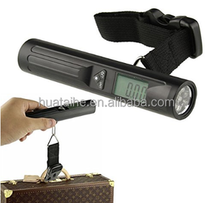 Logo Print LED Flashlight Digital Fine Anis Fish Counter Scale with Approved Travel Luggage Needle Scale