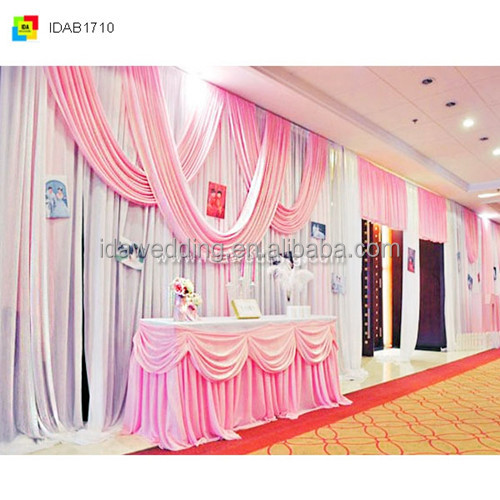 Unique style curtain for wedding, ice silk decoration curtain wedding, 2016 hot sale wedding curtain decoration