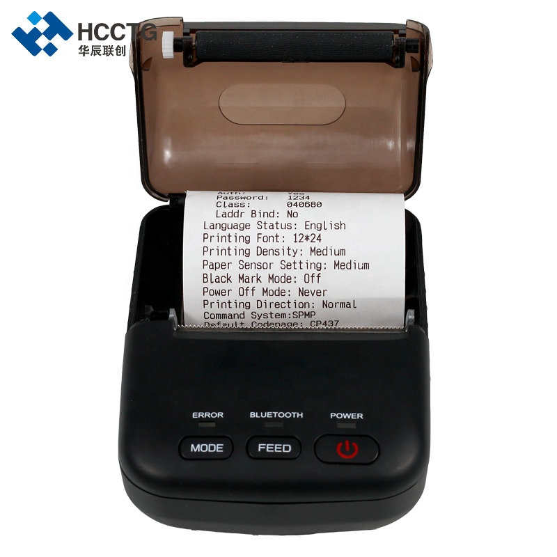 Mini Android SDK Ponsel Barcode Bluetooth Thermal Printer HCC-T12