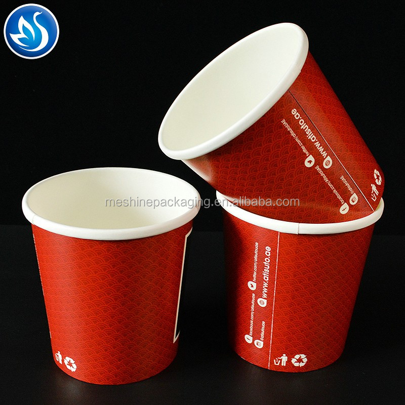 Disposable Paper Soup Bowl with Lid