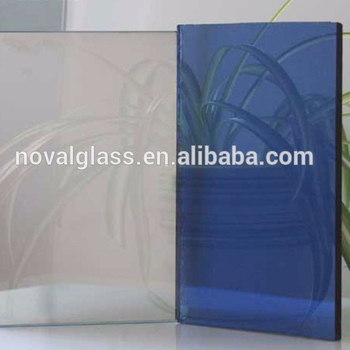 high quality 4mm 5mm 6mm 2440*1830mm light blue heat reduce reflective glass for construction & real estate