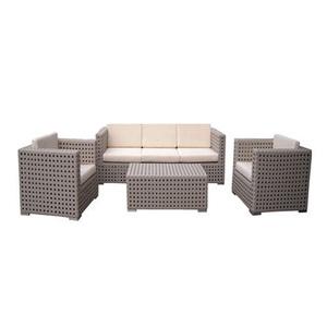 A Patio Wicker Furniture Rattan Muebles Sofa Set Lounge Design 4014