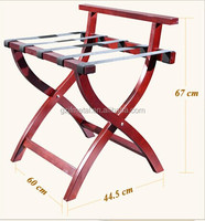 Foldable Wooden Luggage Rack Made Of Oak Rubber Wood