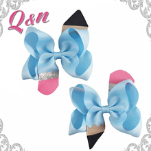 Boutique new styles kids school ribbon hair bow children hair accessory