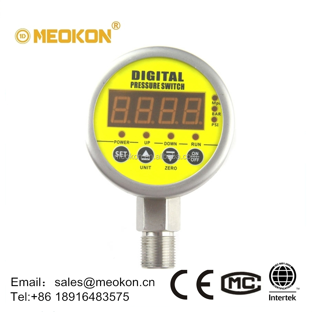 MD-S828E Radial direction mounting high precision Water, Oil, Gas Intelligent Digital Pressure Switch