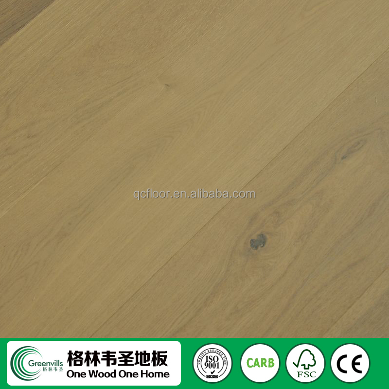 FSC UV oiled Natural white oak engineered wood flooring/oak flooring tile made in china