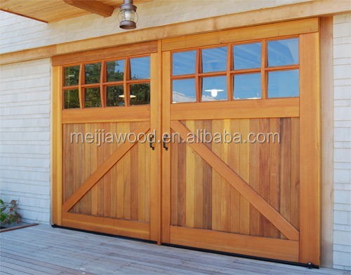French Style 8-Lite Flat Top And Bottom Z Tremendous Sliding Barn Door With Panes