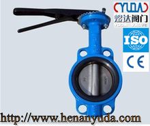 wafer type cast iron butterfly valve online shopping with handle lever