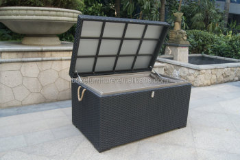 High Quality Waterproof Outdoor Cushion Storage Box / Rattan Pillow Box