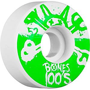 Bones Wheels 100s Original Natural Skateboard Wheels - 52mm 100a (Set of 4) by Bones Wheels