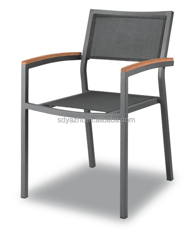 dark grey powder coated outdoor aluminum garden chair