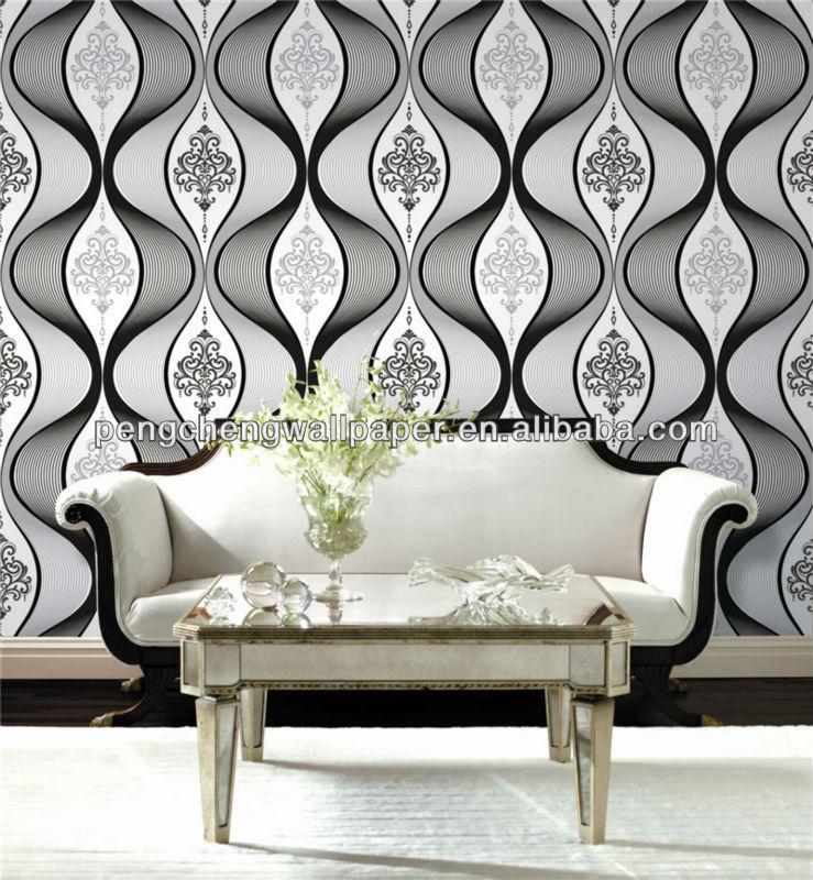 White And Black Color Design Wallpaper