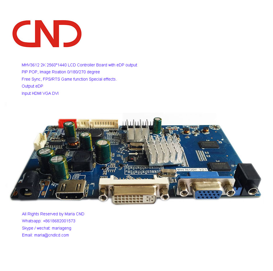 Fhd144hz Led Lcd Scaler Board Hdmi Dp Dvi Vga To Edp With Freesync - Buy  144hz Scaler Board,Scaler Board Edp,Scaler Board Freesync Product on