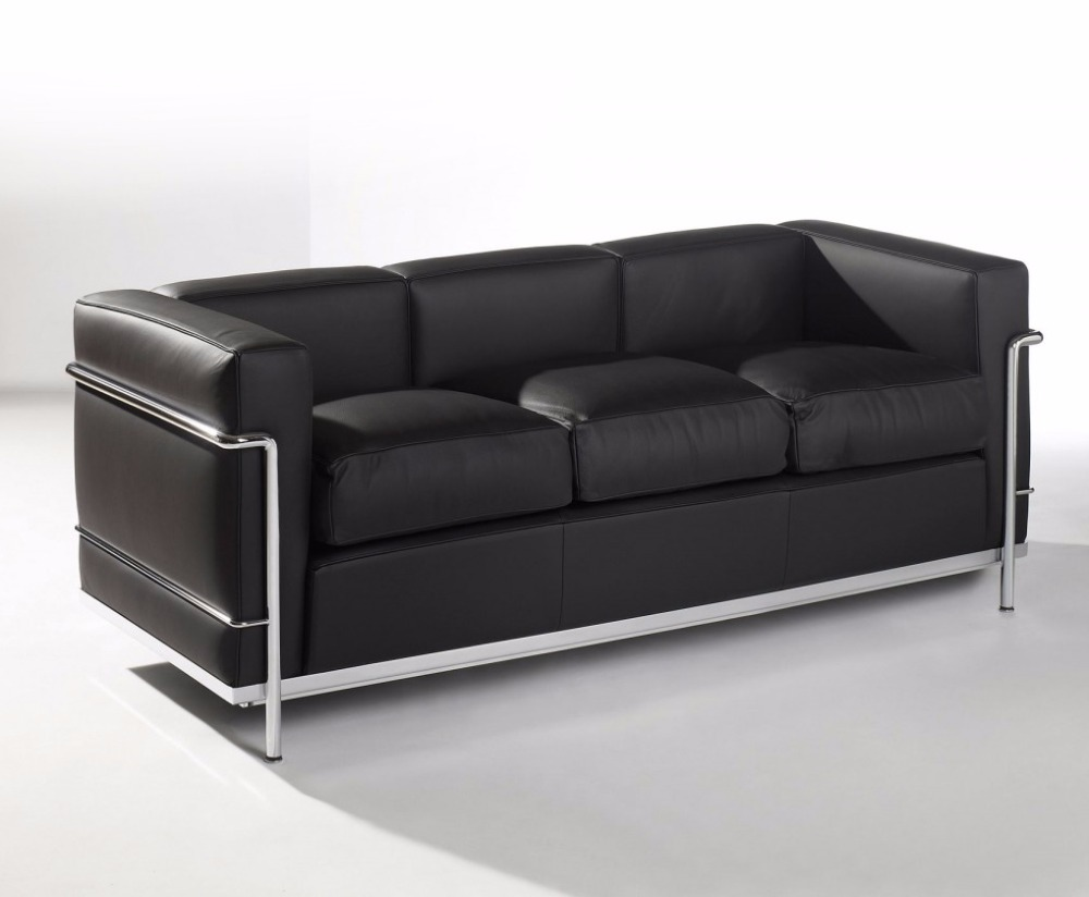 Lc2 Le Corbusier Genuine 3 Seater Leather Sofa 7017a Italy Nova Valencia Product On Alibaba