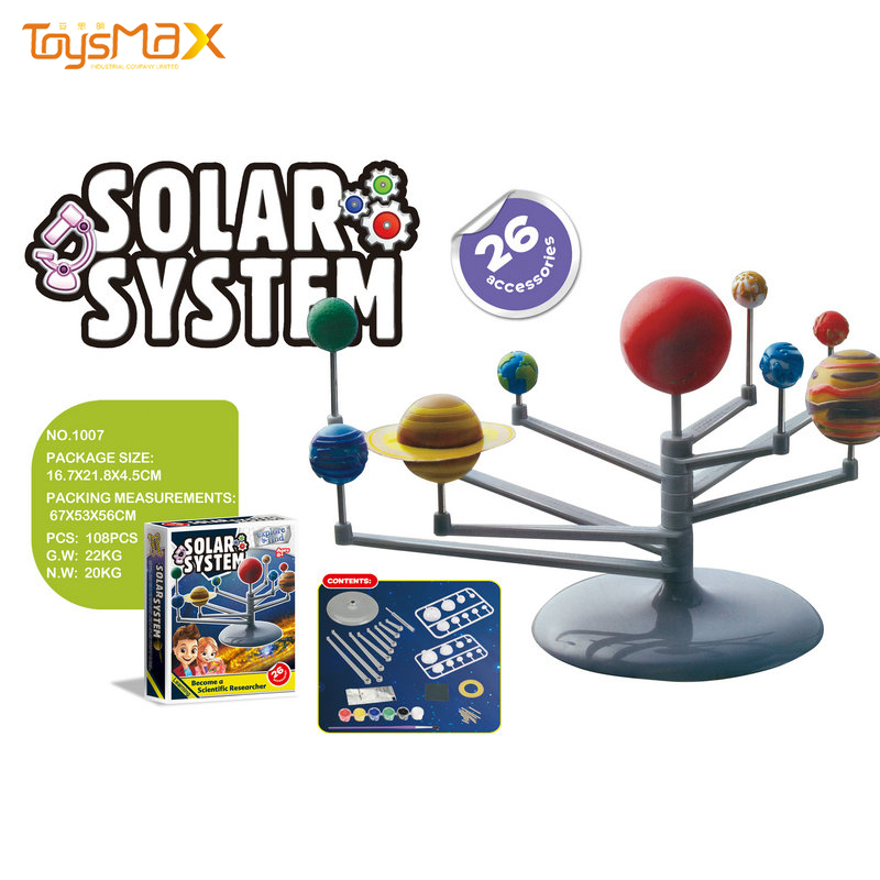 DIY Painting Science Toys Educational Planetaruim Solar System Planet