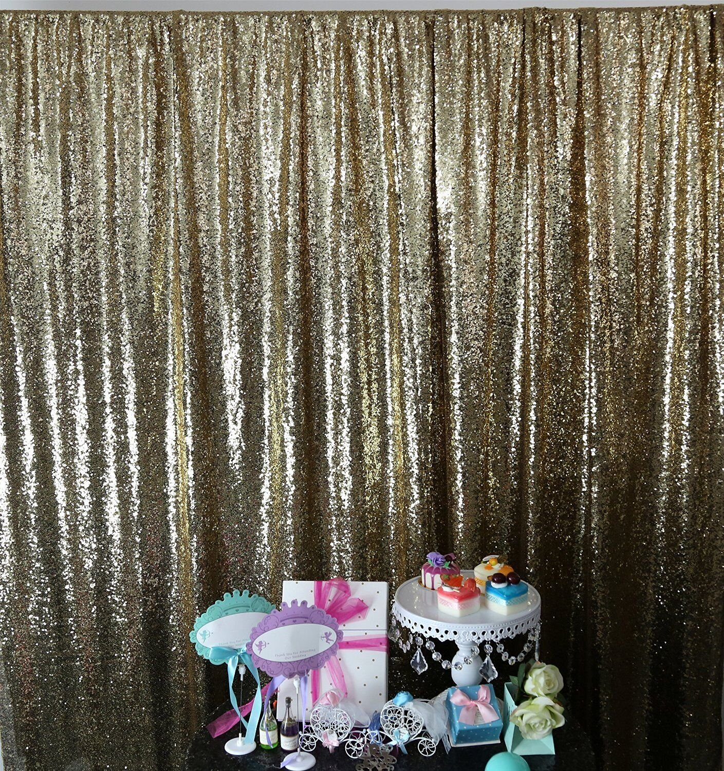 6FTx8FT-Silver-SEQUIN Backdrop-Curtain-Sequin Photography Backdrop Shimmer Sequin Fabric for Event Decoration