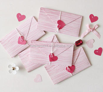 handmade love letter card new style evenlope letter greeting crad