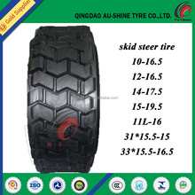 non marking skid steer tires 10-16.5 12-16.5 14-17.5 15-19.5 31*15.5-15 33*15.5-16.5
