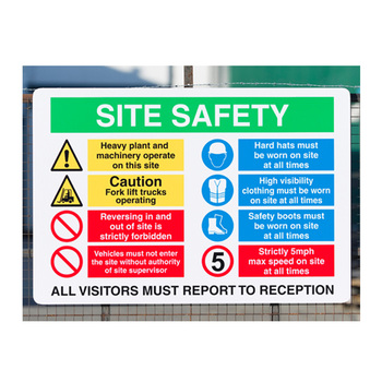 DaLiJia Hot Sales North America Sublimation Aluminum Health Safety Signs
