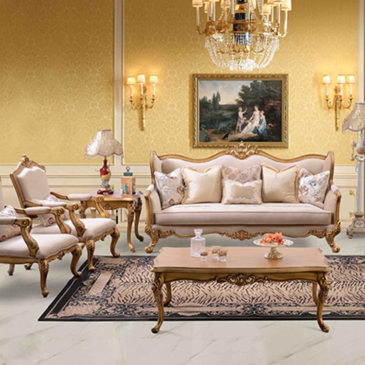 European Style Royal Furniture Design Living Room Sofa Set With