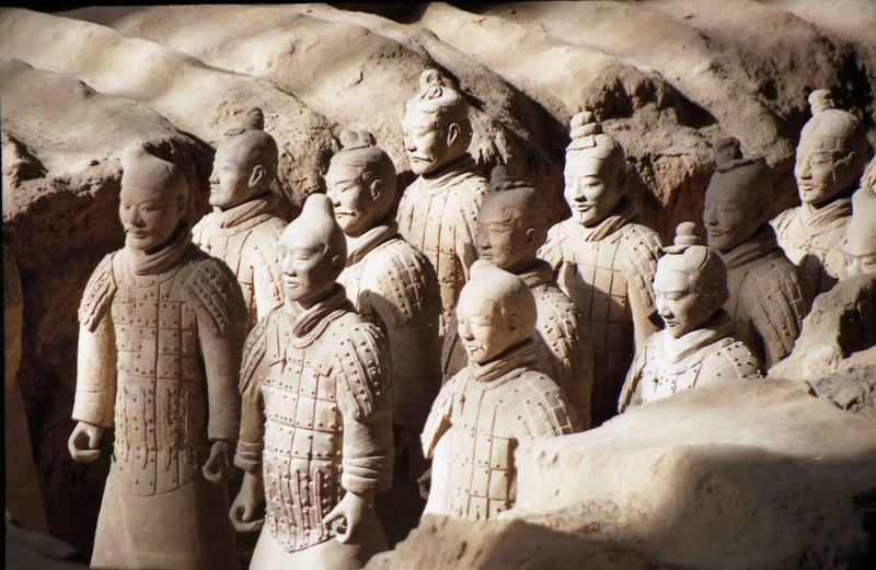 Meilun Oriental Terracotta Warriors Chinese Life Size Terracotta Army Garden Outdoor Statues Collection Manufacturer