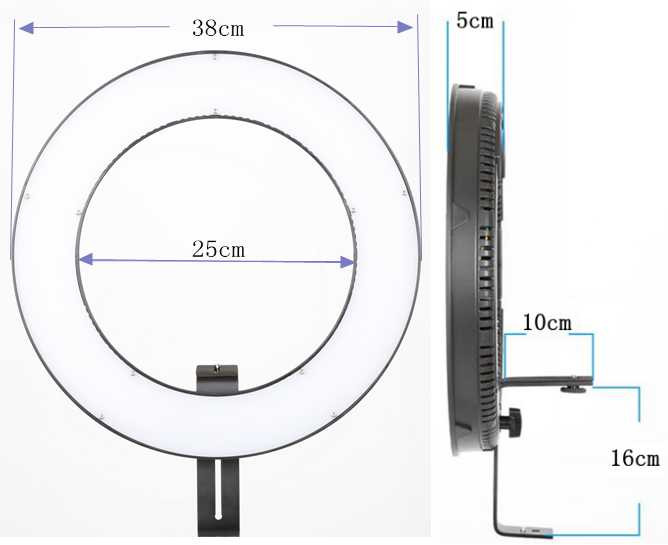 Subsection Control Bi Color LED Ring Light Photo Video Studio LED Photography Lighting