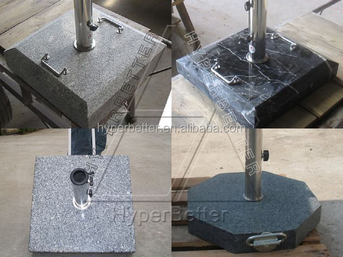 New granite square sun umbrella stand