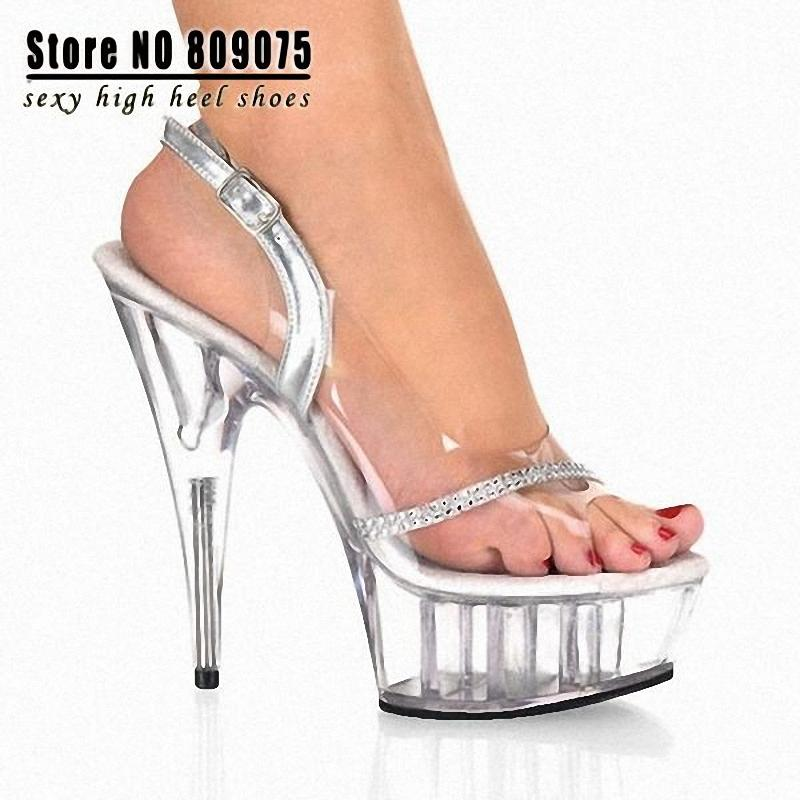 15 cm high heel stripper mules back from the gym 2