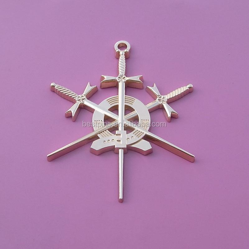 3d Sword Zinc Alloy Masonic Metal Plate,Masonic Pendant