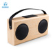 New Product 2017 Wooden Speaker with 4000mAh Power Bank LCD Display Support USB DISK Cabinet Wood