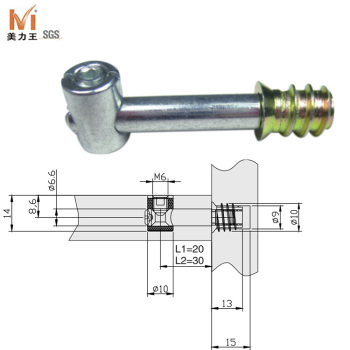 Steel hardware furniture joint connector bolts buy for Furniture joint connector